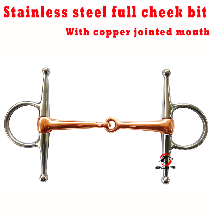 Free Shipping Stainless Steel Full Cheek Bit,copper Jointed Mouth .(SBT0602CU)