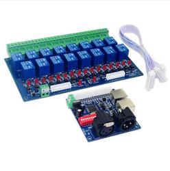Großhandel 16CH Relais schalter dmx512 Controller, relais ausgang, DMX relais steuerung, 16way relais schalter (max 10A), hohe spannung led-leuchten