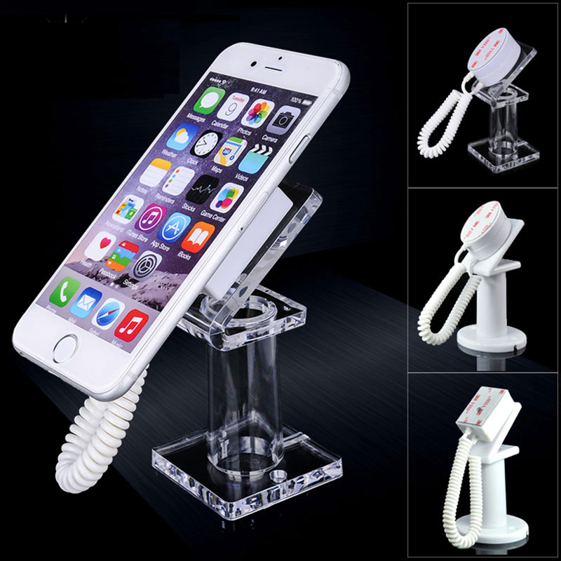 10 pcs Acrylic mobile cell phone security display stand  Iphone anti-theft  holder with retractable device for retail shop show universal mobile phone cell phone holder stand black