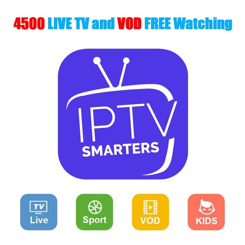 IPTV subscription 4500 HD channel Arabic Europe Russia Canada USA India Latino America Spain France HD Android smart iptv M3U