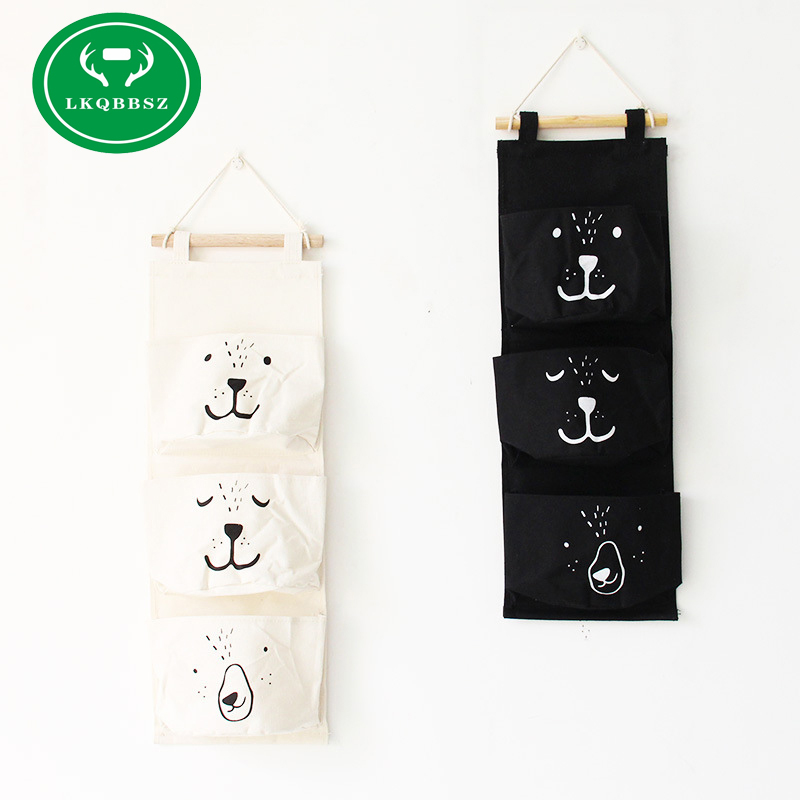 Wall Hanging Storage Bags Organizer Linen Closet Children Room Organizer Pouch For Toys Books Cosmetic Sundries Hanging Bag