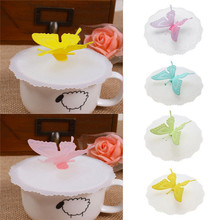 Cap Cup-Cover Coffee-Suction-Lid Butterfly Colorful Silicone Leakproof 1 0935 Airtight-Seal
