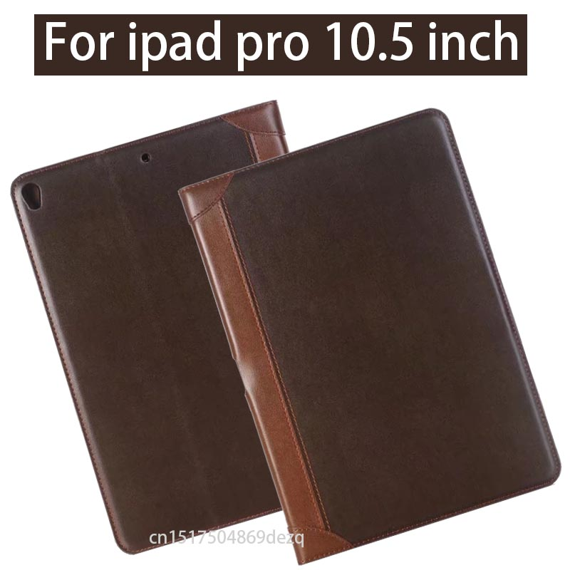 Luxury Leather Case for iPad Pro 10.5 Inch 2017 Business Flip Smart Cover Stand Case for New iPad Pro 10.5 with Card Slot for apple ipad pro 12 9 inch pu leather stand cover flip back case luxury business style smart tablet cover for ipad pro