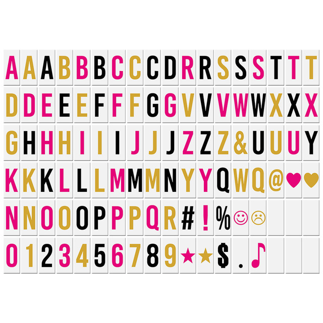 108pcs Colorful Interchangeable Emotion Symbols Characters Cards