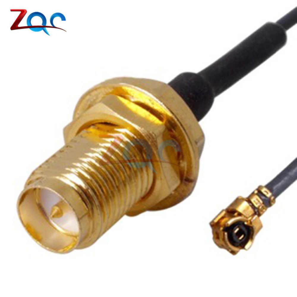 2Pcs Mini Pci U. Fl Zu RP-SMA Antenne Router Mod Kit Wifi Stecker Kabel MF
