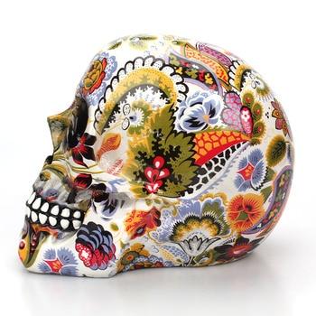 Decoración Del Hogar Resina Artesanía Flores De Ciruelo Escultura Estatuas De Jardín Arte Creativo Tallado Estatua Modelo Médico Cráneo De Resina Humana