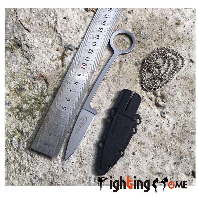 Swiss Multifunctional font b Knife b font EDC NecKlace 440C Fixed Blade font b Knives b
