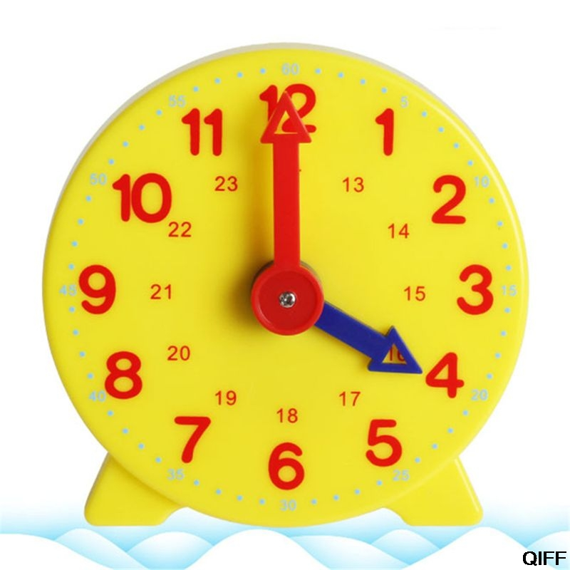 Dropshipping Montessori Student Learning Clock Time Teacher Gear Clock 4 Inch 12/24 Hour