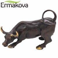 NEO Brass Ox Wall Street Bull Figurine Metal Charging Stock Market Bull Statue Feng Shui Sculpture
