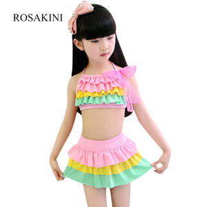 babd752868 ROSAKINI Girl 2 Colors Swimming Suits Spring Bathing Suit Cake Skirt