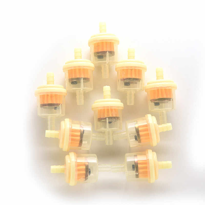 10pcs/Lot Motorcycle Scooter Gasoline Filter Inline Gas Fuel Filter Motorcycle Oil Filters
