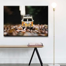 Modern Wall Art Canvas HD Printed Toy Volkswagen Car Van Painting Home Decor Framework 1 Pieces Popular Unique Poster