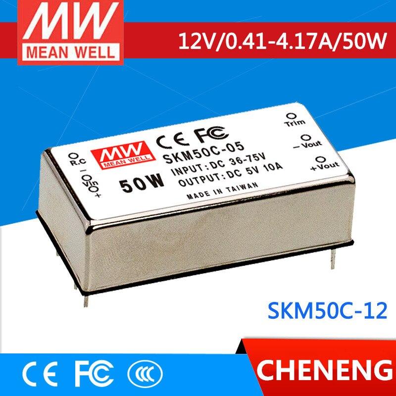 цена на MEAN WELL original SKM50C-12 12V 4.17A meanwell SKM50 12V 50W DC-DC Regulated Single Output Converter