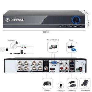 Image 4 - DEFEWAY 8CH CCTV カメラシステム 1080 p 8 ピース 2000TVL Ir 屋外ナイトビジョン CCTV の HD セキュリティ監視 DVR キット 1 テラバイト HDD