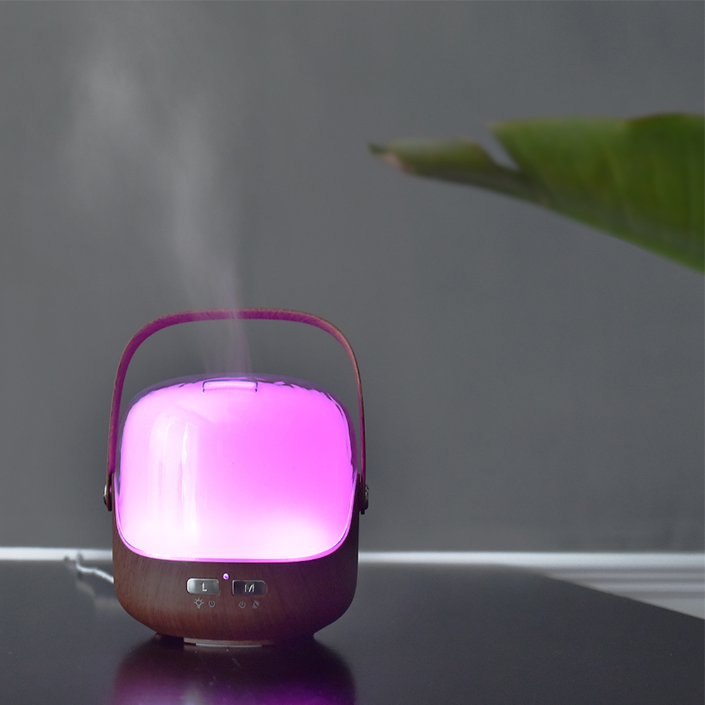 250ML Handheld Design Aroma Essential Oil Diffuser Portable Air Humidifier With Colourful Gradient Night Light Ultra Fine Mist Maker