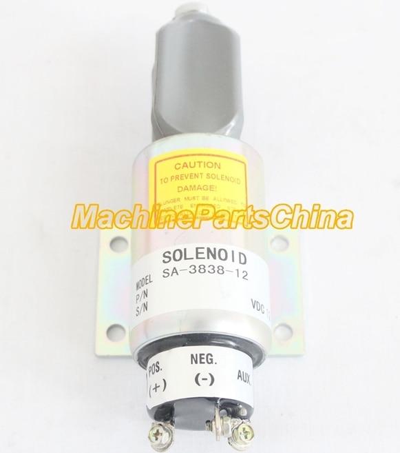 Diesel FUEL SHUT OFF SOLENOID for SA-3838-12 12V stop solenoid таймер show more 220v 10a kg01