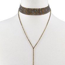 Rhinestone Luxury Statement Choker Necklace