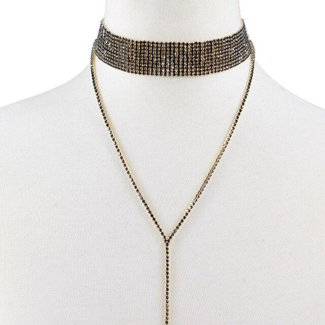 Rhinestone Crystal Gem Luxury Choker