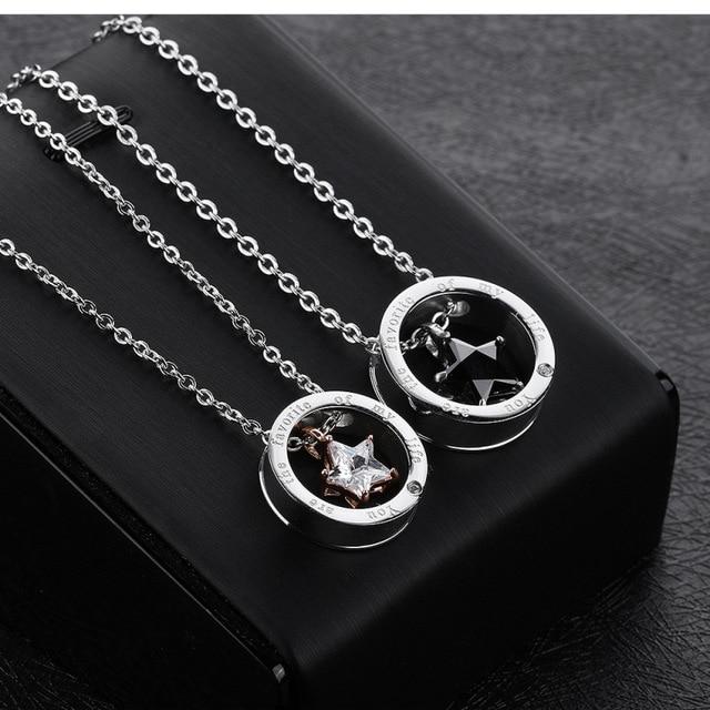 Фото 2020 ювелирные изделия ожерелья для влюбленных с белой фотозвездой