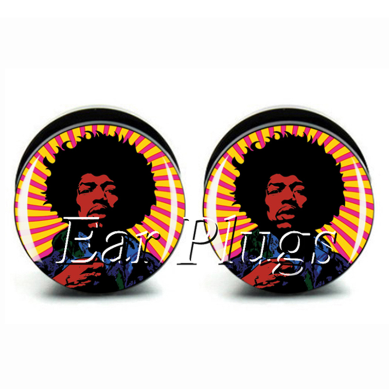 Wholesale 60pcs rock Jimi plug gauge acrylic screw ear plug flesh tunnel body piercing jewelry mix size 6mm-25mm A0490