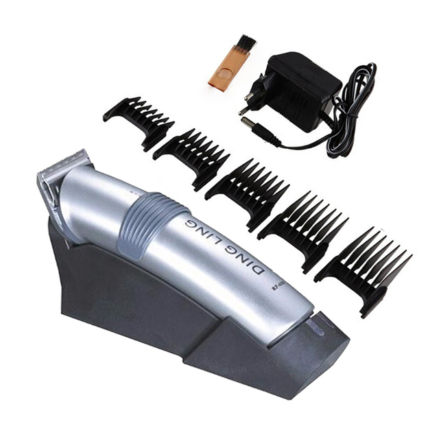 Dingling Trimmer Electric Hair Clipper Rechargeable Hair Shaver Razor Cordless Adjustable Clipper 220V 50Hz RF-609