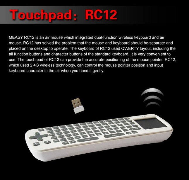 Free Shipping!Andriod 4.1 MK808 Dual Core Rk3066 A9 8G Mini PC WiFi TV IPTV Box+RC12 Fly Mouse -