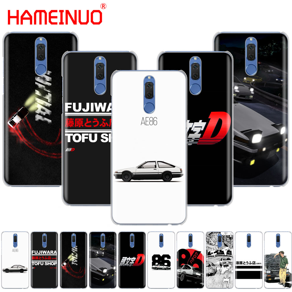 best loved 91d31 25fc0 US $1.64 34% OFF|HAMEINUO AE86 Initial D Cover phone Case for Huawei NOVA 2  2S 3e PLUS LITE P smart 2018 enjoy 7s mate 7 8 9 10 pro-in Half-wrapped ...