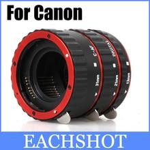 Mount Red Metal Enfoque Automático AF Macro Extension Tube/Anillo de Kenko Canon EF-S Lente T3i T2i T5i T4i 100D 60D 70D 550D 600D 6D 7D