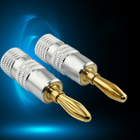 10pcs Lot 5 Pair New Arrival 24K Gold Nakamichi Speaker Banana Plugs 4MM Pure Copper Audio