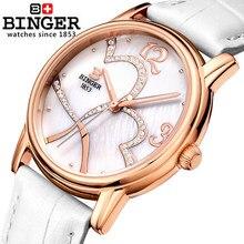 2016 Новый Бингер Мода часы Женщины Дети Пользу Розовое Золото Мультфильм часы Повседневная кварцевые наручные часы Для Вас Любовника Подарки