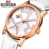 2017 New Binger Fashion Cute watches Women Children Favor Rose Gold Cartoon watch Casual quartz wristwatches For You Lover Gifts