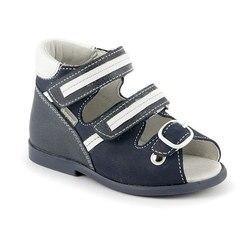 Sandalias Zapatos azules de cuero genuino para niños pequeños nuevos cómodos y cómodos