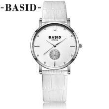 BASID Women Watches Box Leather Band Simple Business Quartz Wristwatch Fashion Casual Lover Couple Streetwear Watch Waterproof