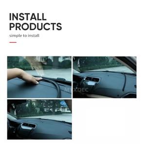 Image 5 - Auto Gummi Sound Dichtung Streifen 1,6 mt U Typ Dashboard Isolierung Auto Windschutzscheibe Kanten Lücke Dicht Streifen Auto Innen Zubehör
