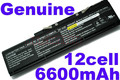 Genuine 12cell 14.8v 6600mah Battery Clevo D700TBAT-12 87-D70TS-4D61 D700T D750W  free shipping