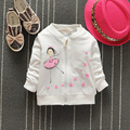 2017 new kids spring coat girl Korean cartoon cute girl butterfly cotton long sleeved hooded knit cardigan jacket