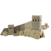 BOHS Great Wall Diy 3D Wooden Puzzle Scale Models, Ancient Wonders Building Toys 64.5*30*16CM