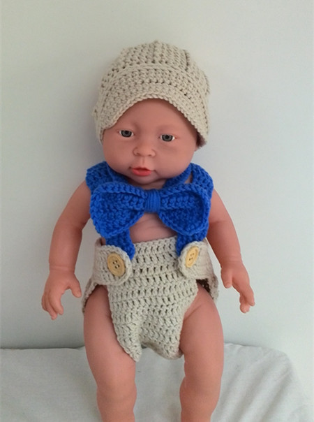 Crochet Newborn hat baby boy clothing hat newsboy hat set with bow tie and  diaper cover 97acb5fc078a