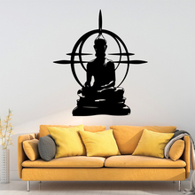 Modern Buddha Wall Stickers Vinyl Waterproof Wall Art Decal Nursery For Living Room Decor Mural Decorative Vinyl Wallpaper colorful strip wall stickers nordic style wall decal children room nursery wall decor waterproof living room mural wallpaper