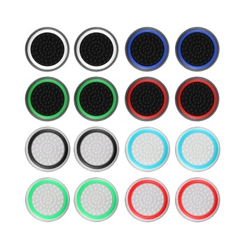 4pcs Silicone Analog Thumb Stick Grips Cover for Xbox 360 One Playstation 4 PS4 Pro Slim PS3 Gamepad Cap Joystick Cap cases yuxi 10pcs joystick cap cover analog for ps3 ps4 pro slim controller stick grip for xbox one 360