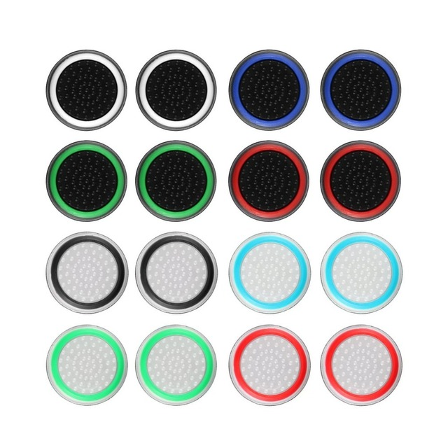 4pcs Silicone Analog Thumb Stick Grips Cover for Xbox 360 One Playstation 4 PS4 Pro Slim PS3 Gamepad Cap Joystick Cap cases