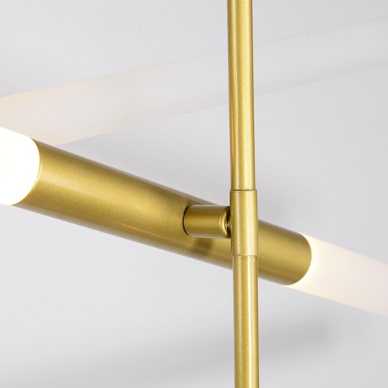 Aluminium Postmodernen Minimalist Led Pendelleuchten Glasrohr Lampenschirm Esszimmer Wohnzimmer Pendelleuchte Loft Industrie Retro In