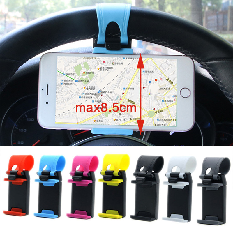 Car Phone Holder Mini Air Vent Steering Wheel Clip Mount Cell Phone Mobile Car Holder Universal For IPhone Xiaomi Bracket Stand