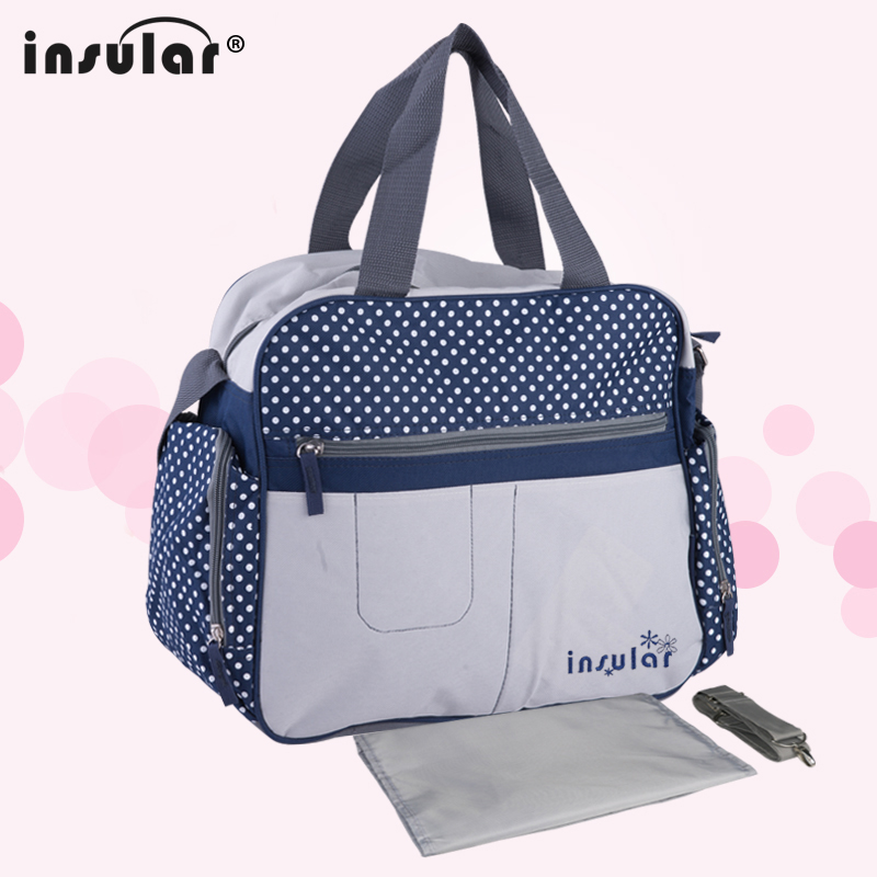 Insular Baby Nappy Bags Fashion Diaper Bag Mother Shoulder Bag Maternity Mummy Handbag Waterproof Baby Stroller Bag insular high quality maternity mummy handbag waterproof baby stroller bag nappies bags baby diaper backpack