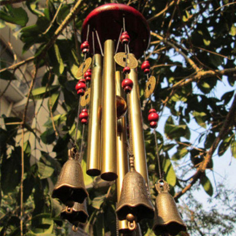 60 см ветряные колокольчики для двора, антикварные садовые медные трубки колокольчики для дома, настенные колокольчики для украшения дома|Ловцы снов и подвесные украшения|   | АлиЭкспресс