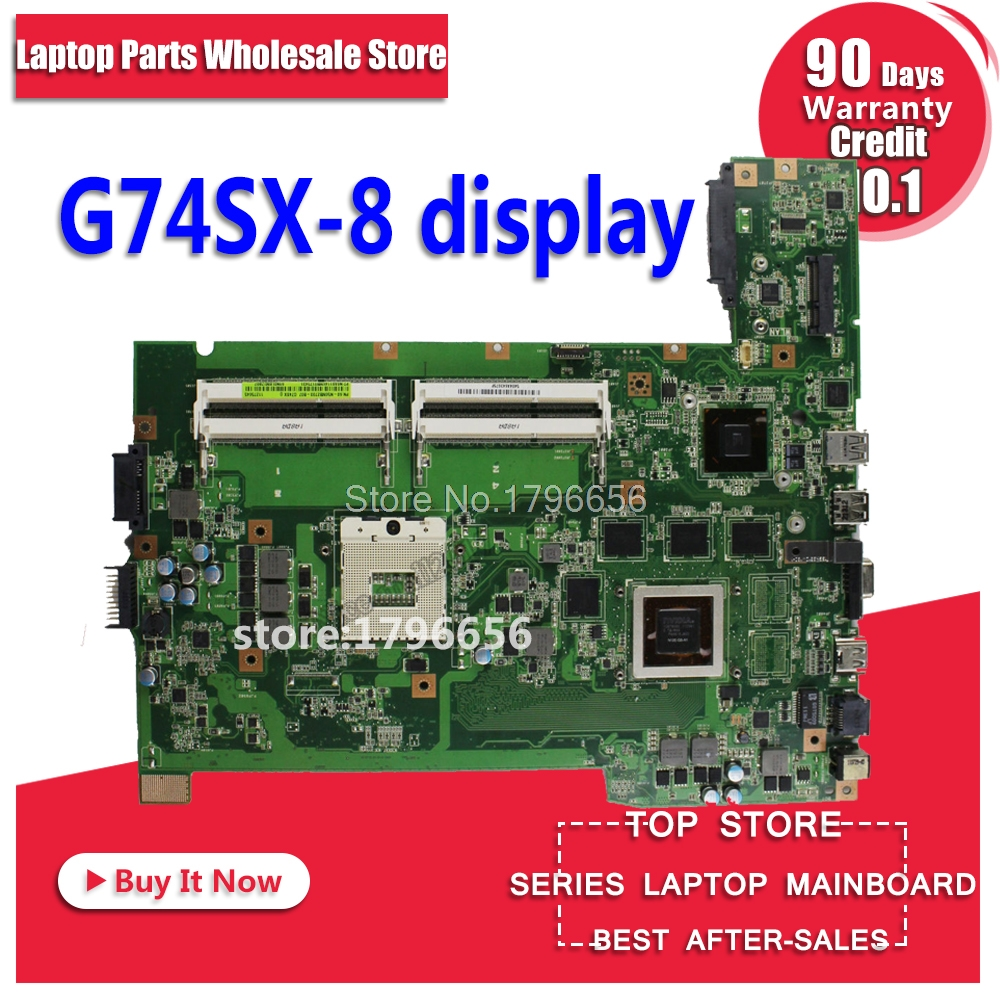 G74SX motherboard for ASUS G74SX GTX560M 2GB support 2D connector 4 memory slots motherboard for laptop все цены