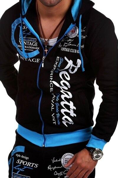 ZOGAA New Men Tracksuit 2 Piece Set Casual Sport Wear Outfits Hoodies with Sweat Pants Sweatsuit Sport Set Men Clothing 2019