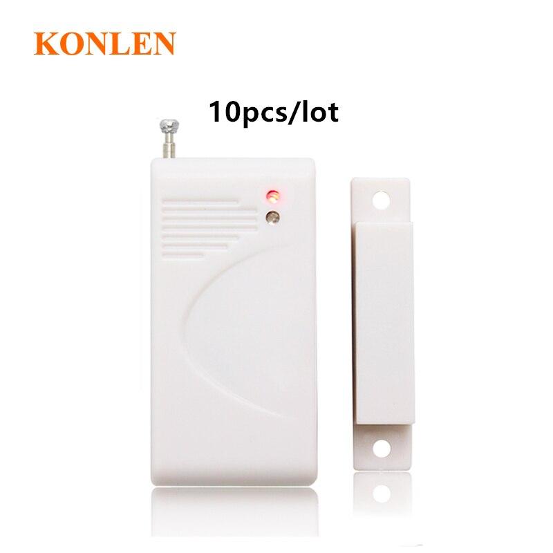 10pcs lot Wireless Window Door Sensor 433mhz 1527 Magnetic Contact Door Open Entry Alarm Detector for