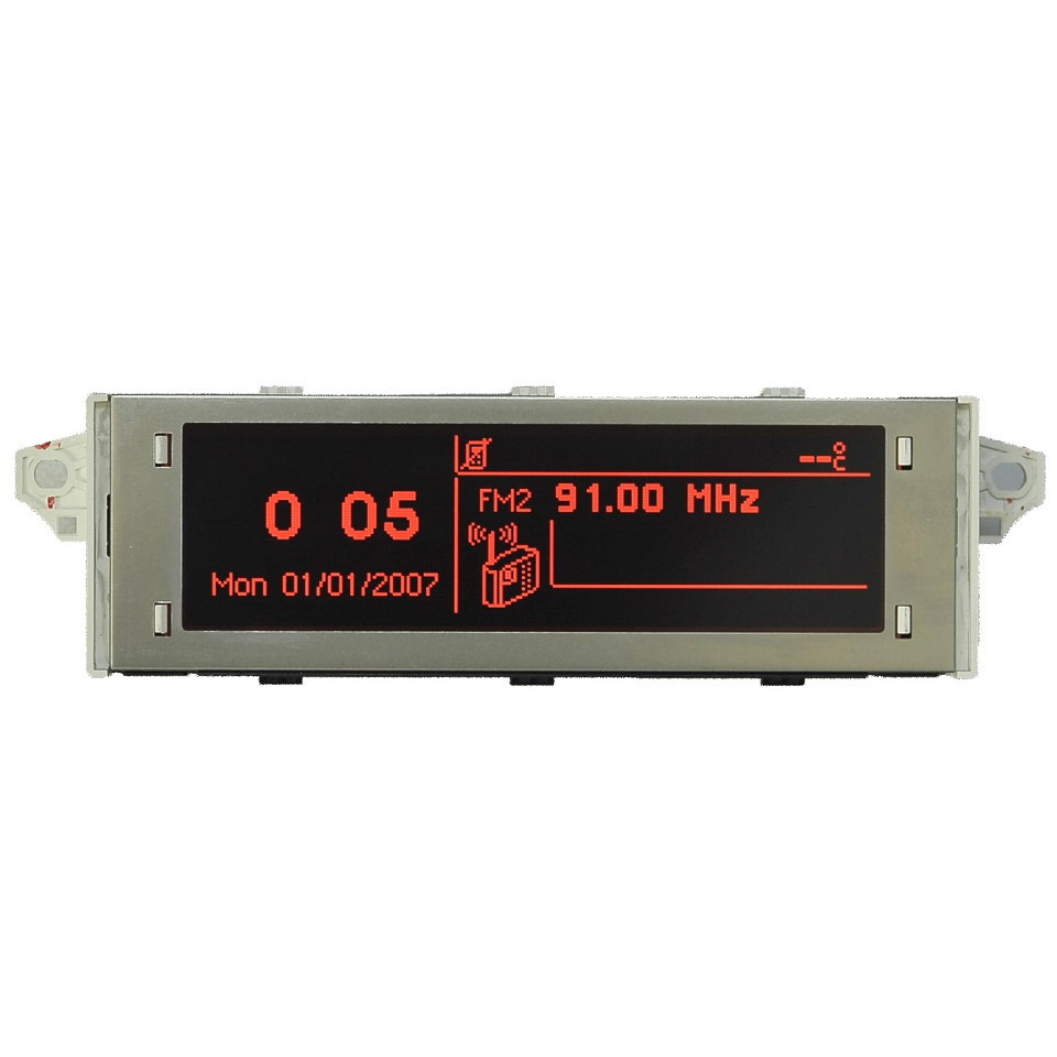Автомобильный экран с поддержкой USB и Bluetooth, красный монитор, 12 контактов, подходит для 307 207 408 C4 C5, красный экран, 12 контактов