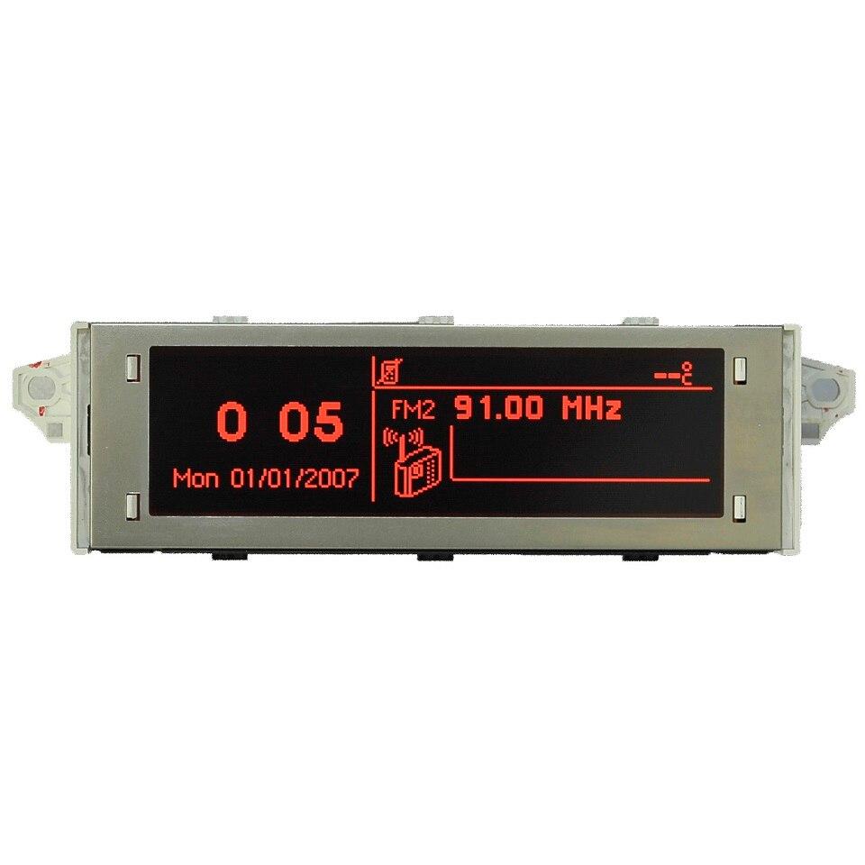 Supporto schermo per auto Display USB e Bluetooth monitor rosso 12 pin adatto 307 207 408 C4 C5 schermo rosso 12 pin